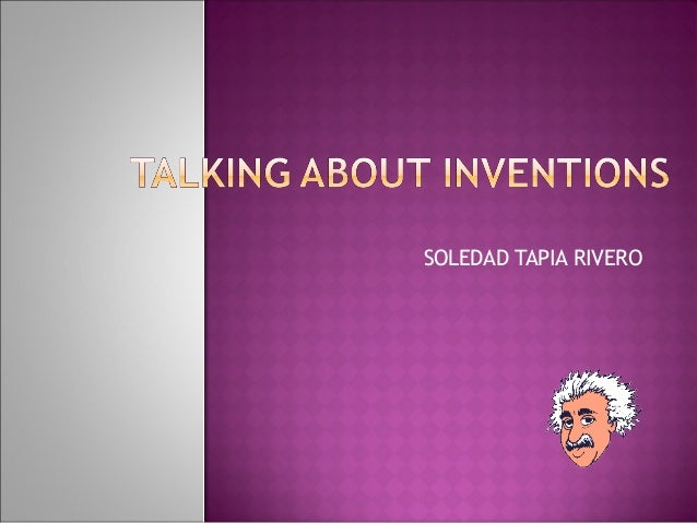 Talking about inventions 1