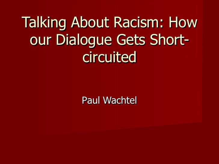 Talking about racism