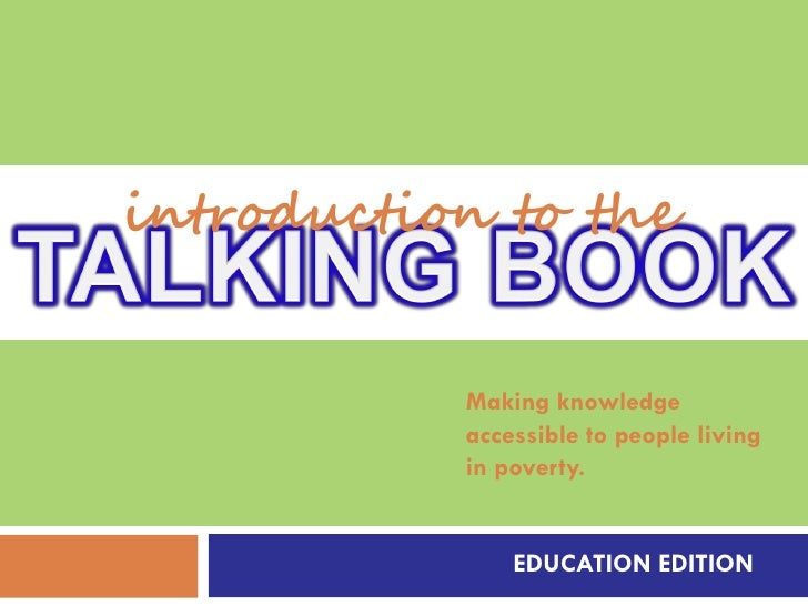 introduction to the              Making knowledge            accessible to people living            in poverty.           ...