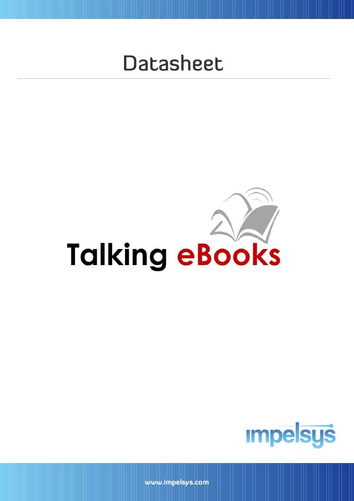 Talking eBooks - Powered by iPublishCentral
