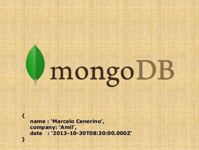 Talk MongoDB - Amil