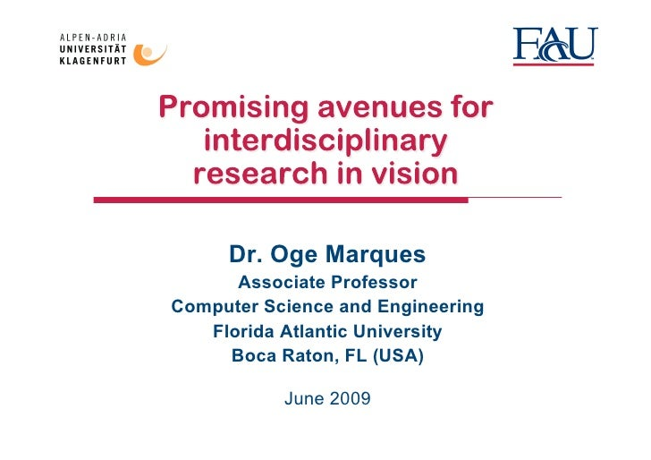 Promising avenues for interdisciplinary research in vision