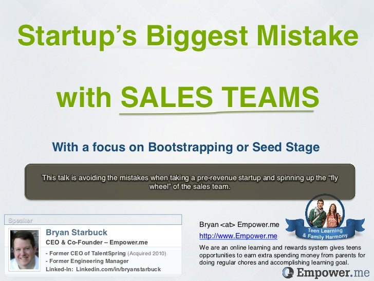 STARTUPS: Bootstrapping Sales Teams