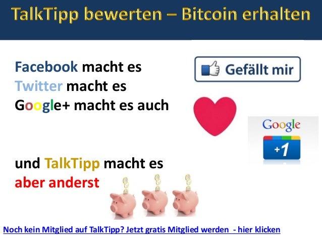 Noch kein Mitglied auf TalkTipp? Jetzt gratis Mitglied werden - hier klicken Facebook macht es Twitter macht es Google+ ma...