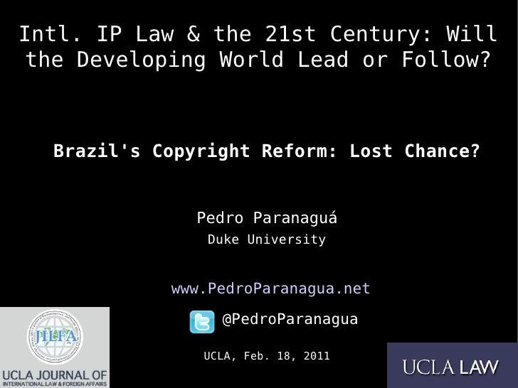 Brazil's Copyright Reform