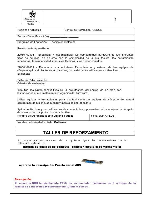 fSistema de Gestión de la Calidad Regional: Antioquia Centro de Formación: CESGE Fecha: (Día – Mes – Año): _ Programa de F...