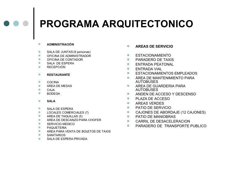 Taller integral for Programa arquitectonico restaurante