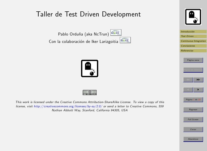 Taller de Test Driven Development                                                                                         ...
