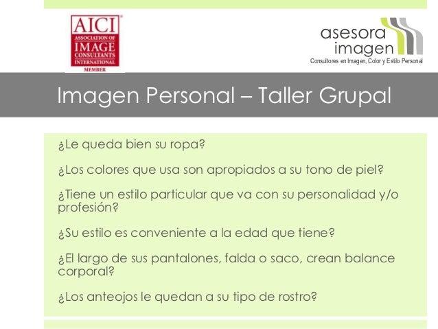 Taller Imagen Personal - Grupal