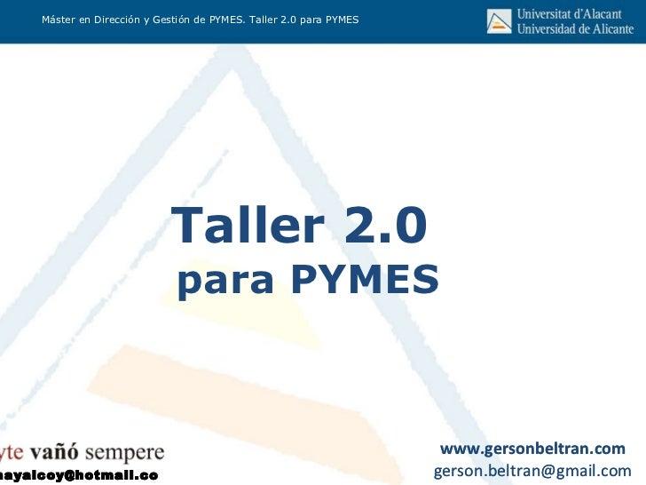 Taller 2.0  para PYMES