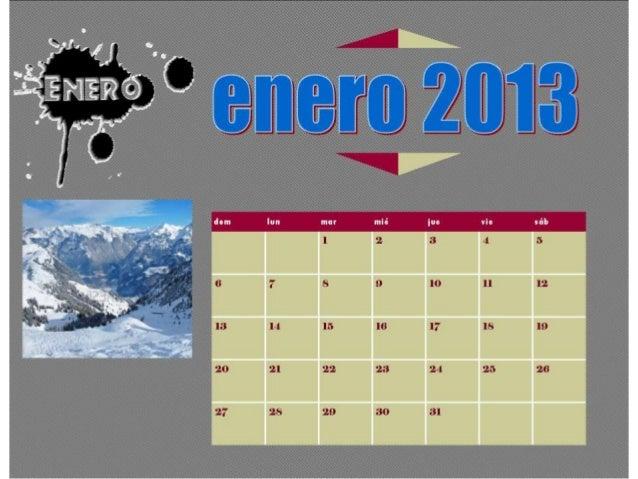 Taller 2. calendarios 2013