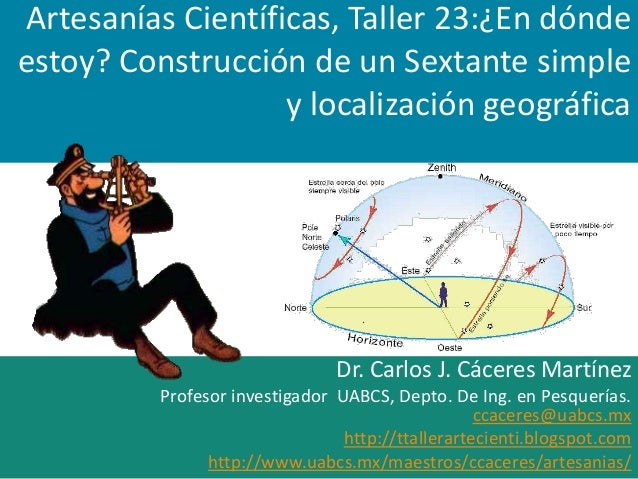 Taller de artesanías científicas