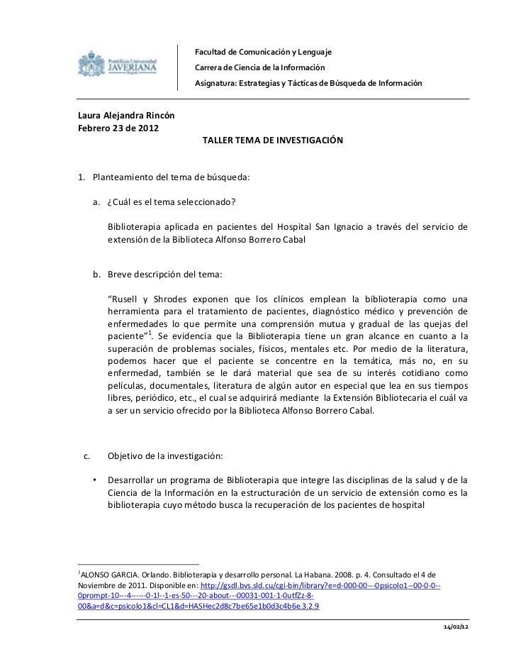 Facultad de Comunicación y Lenguaje                                   Carrera de Ciencia de la Información                ...