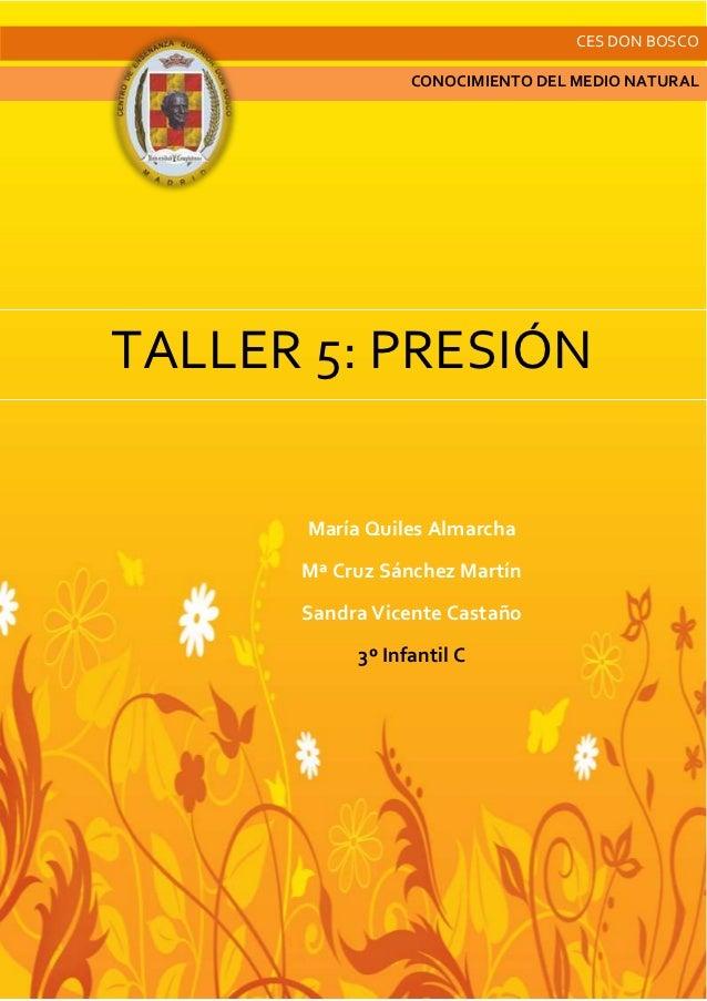 Taller 5. presión
