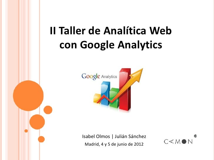 Taller de Analítica Web con Google Analytics