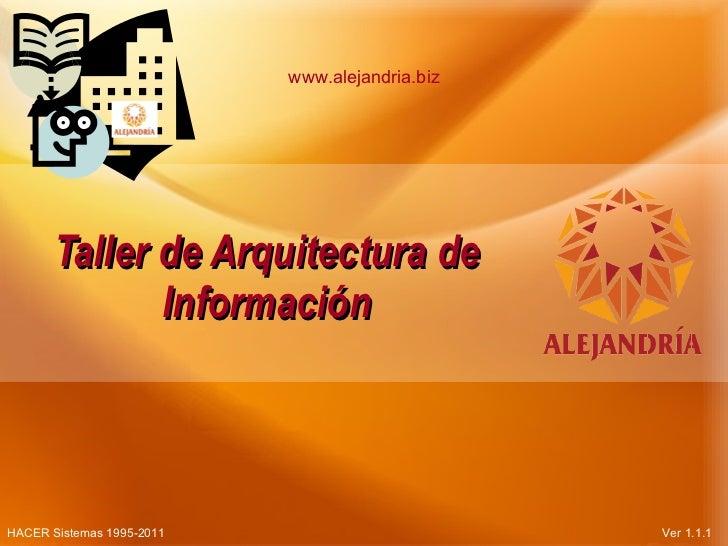 Taller de Arquitectura de Información Parte1 v1.1.1