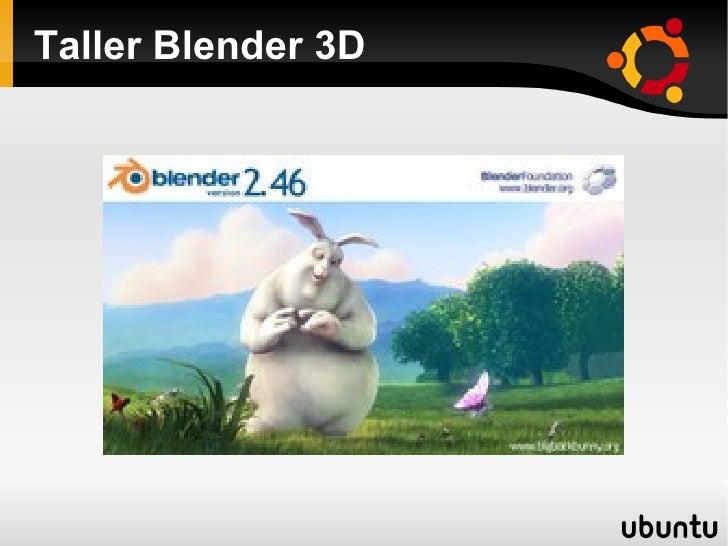 Taller Blender 3D