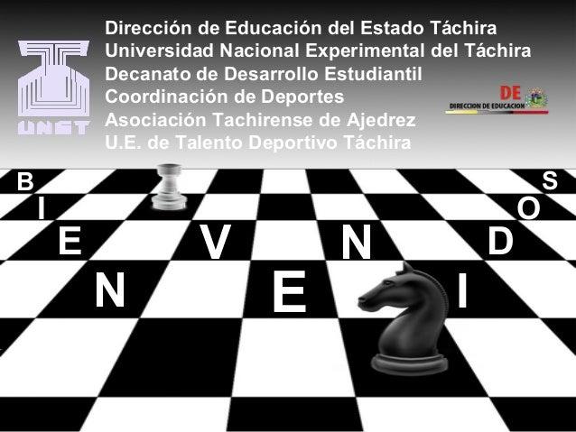 Dirección de Educación del Estado Táchira  Universidad Nacional Experimental del Táchira  Decanato de Desarrollo Estudiant...