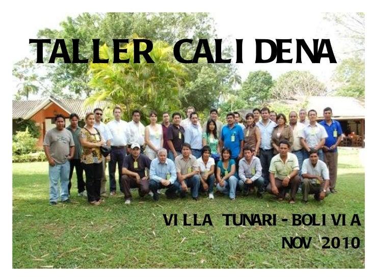 TALLER CALIDENA VILLA TUNARI-BOLIVIA NOV 2010