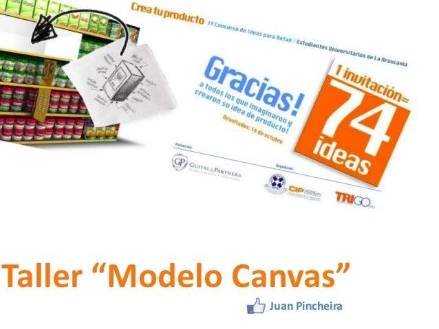 """Taller """"Modelo Canvas""""                Juan Pincheira"""