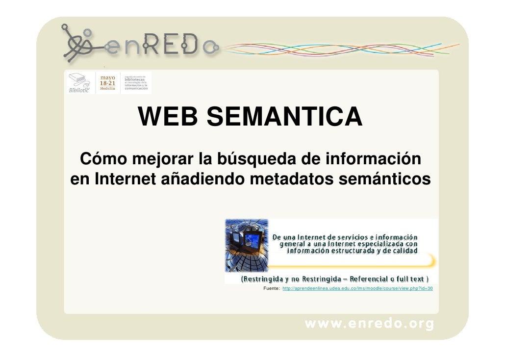 Taller como mejorar la busqueda de informacion en internet con metadatos