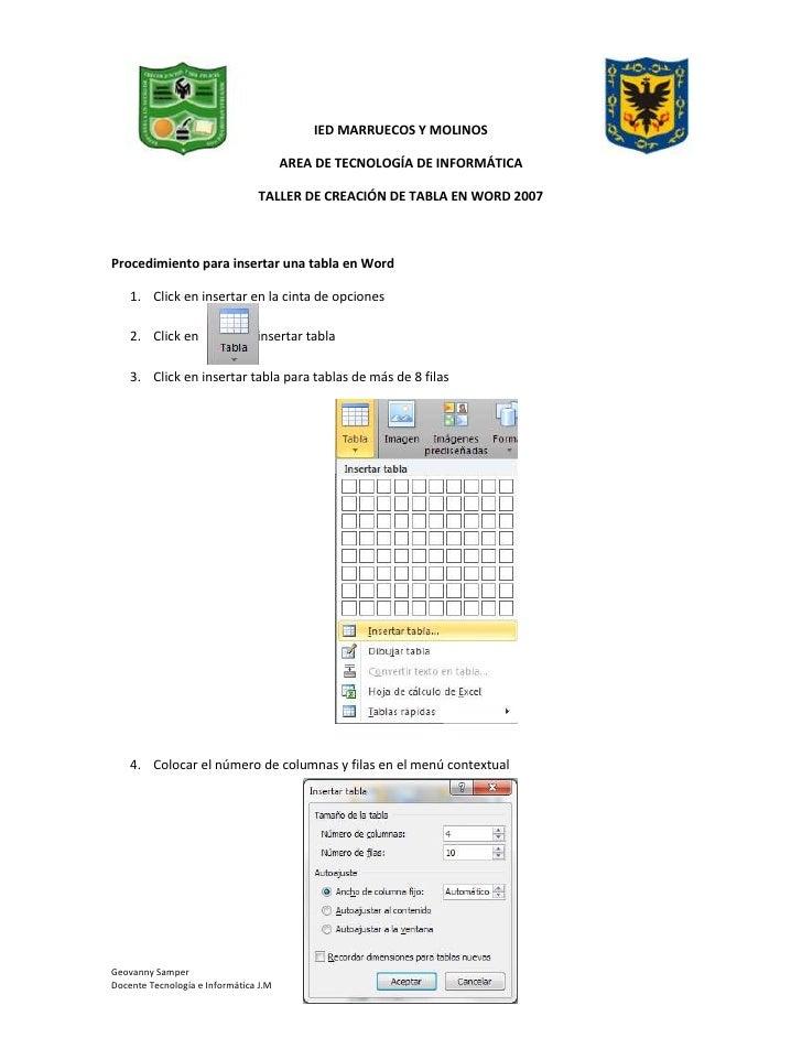 148590-61785500IED MARRUECOS Y MOLINOS4758055-60833000<br />AREA DE TECNOLOGÍA DE INFORMÁTICA<br />TALLER DE CREACIÓN DE T...
