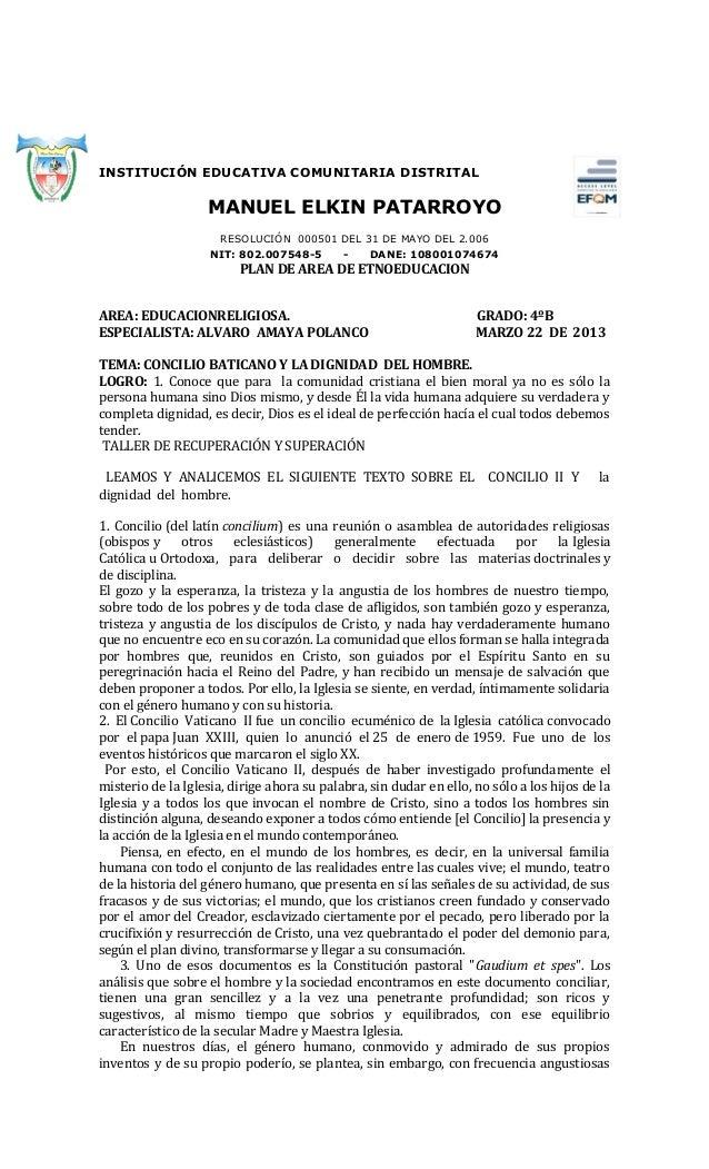 INSTITUCIÓN EDUCATIVA COMUNITARIA DISTRITAL                   MANUEL ELKIN PATARROYO                      RESOLUCIÓN 00050...
