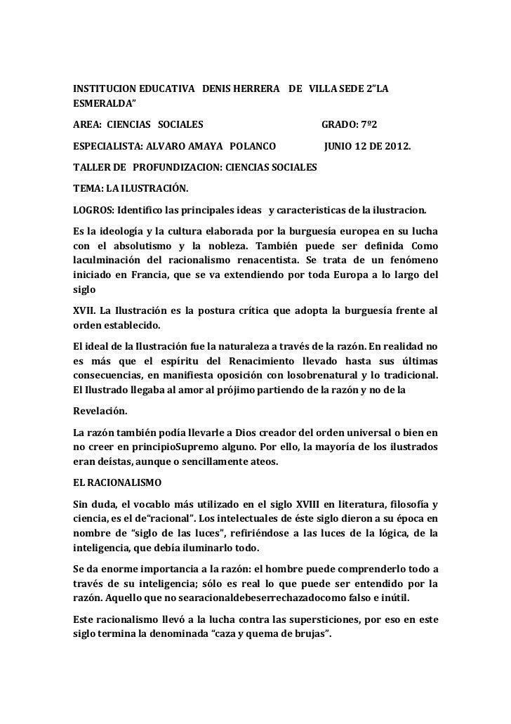 """INSTITUCION EDUCATIVA DENIS HERRERA DE VILLA SEDE 2""""LAESMERALDA""""AREA: CIENCIAS SOCIALES                                GRA..."""
