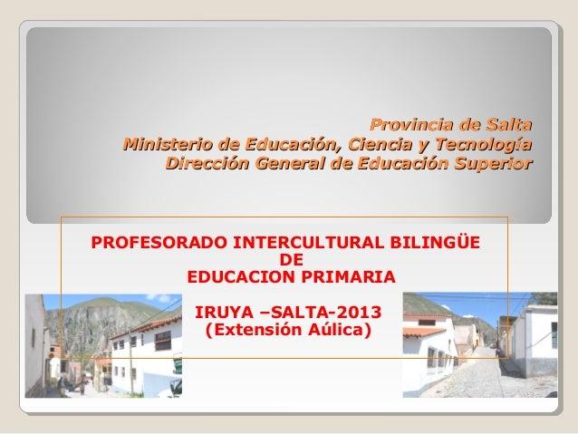 Provincia de SaltaProvincia de SaltaMinisterio de Educación, Ciencia y TecnologíaMinisterio de Educación, Ciencia y Tecnol...