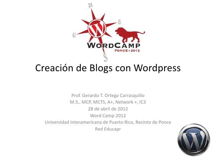 Taller de blogs con wordpress