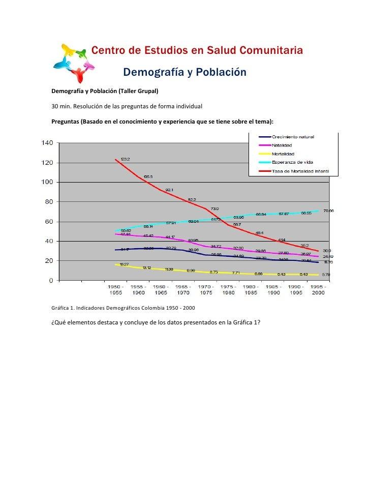 Taller de demografía y población