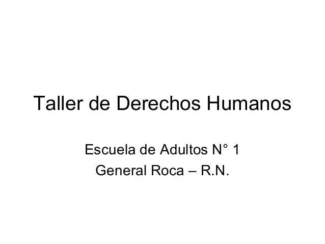 Taller De Derechos Humanos