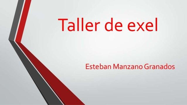 Taller de exelEsteban Manzano Granados