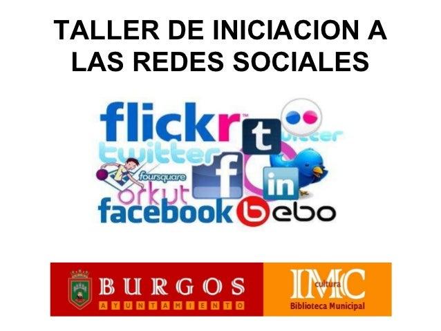 Taller de inciación a las redes sociales