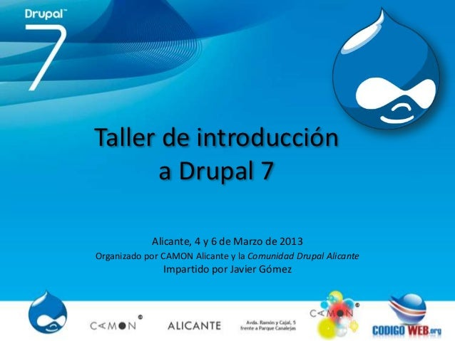 Taller de introducción a drupal 7 1ª parte
