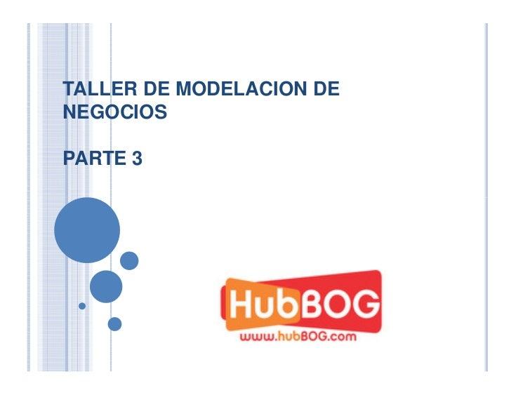 TALLER DE MODELACION DENEGOCIOSPARTE 3