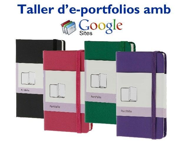 Taller d'e-portfolios amb