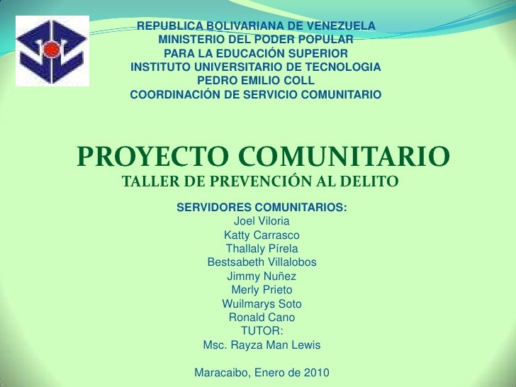 REPUBLICA BOLIVARIANA DE VENEZUELA <br />MINISTERIO DEL PODER POPULAR <br />PARA LA EDUCACIÓN SUPERIOR<br />INSTITUTO UNIV...