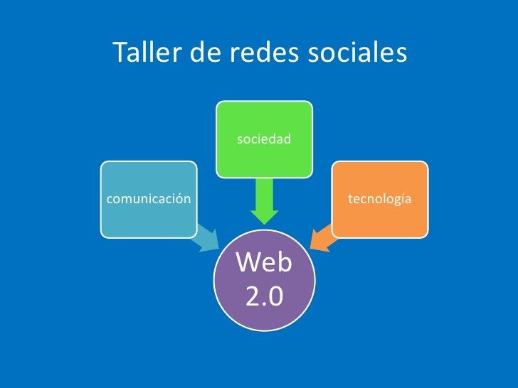 Taller de redes sociales<br />