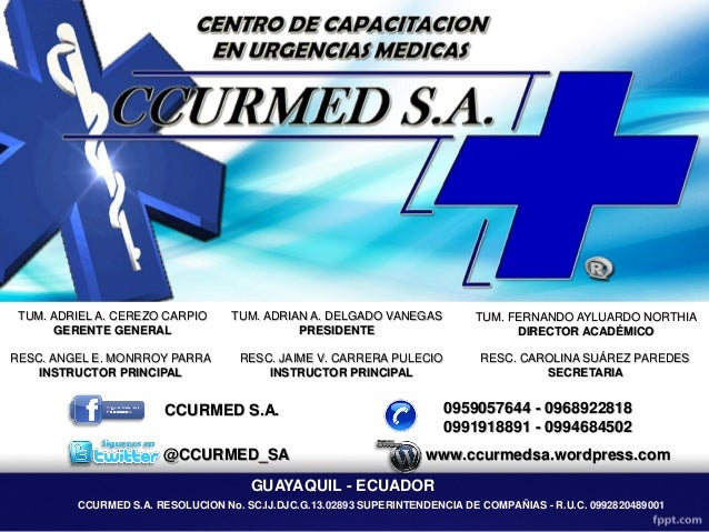 CCURMED S.A. RESOLUCION No. SC.IJ.DJC.G.13.02893 SUPERINTENDENCIA DE COMPAÑIAS - R.U.C. 0992820489001 TUM. ADRIEL A. CEREZ...