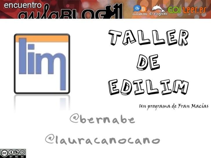 Taller EdiLIM