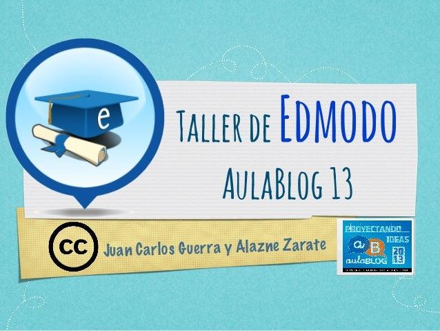 TallerdeEdmodo AulaBlog13 Juan Carlos Guerra y Alazne Zarate