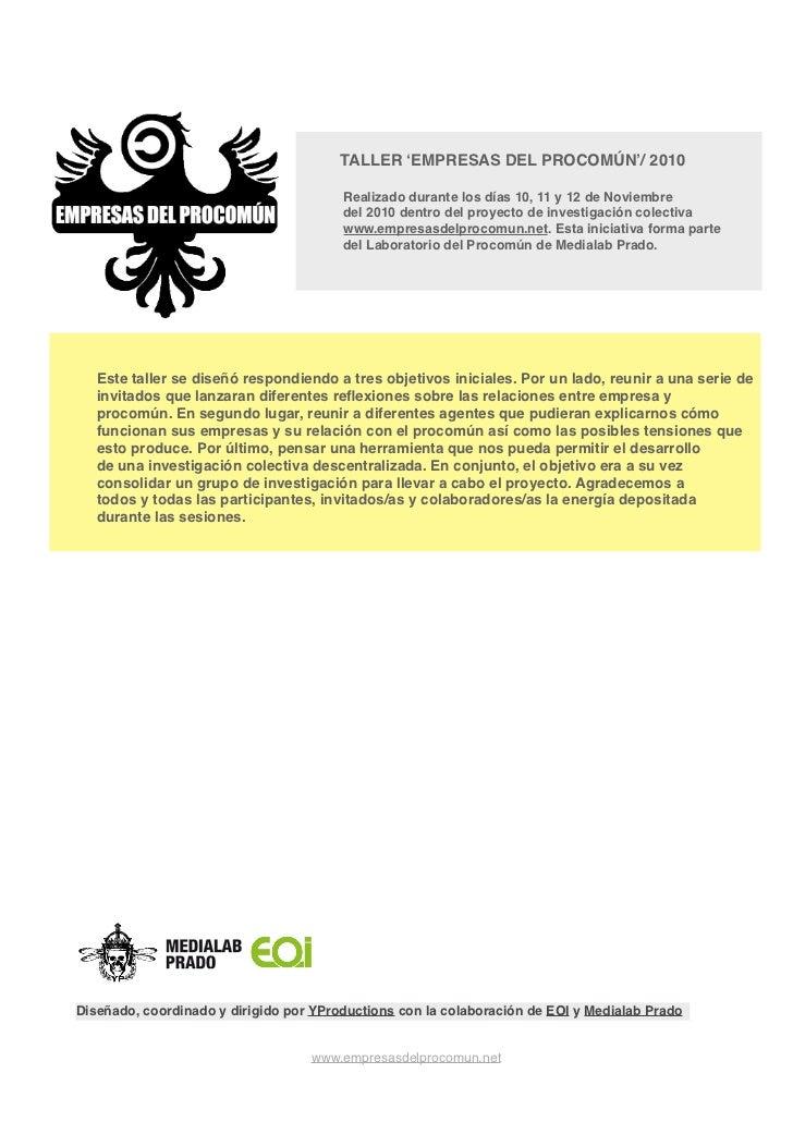 informe taller Empresas del Procomún