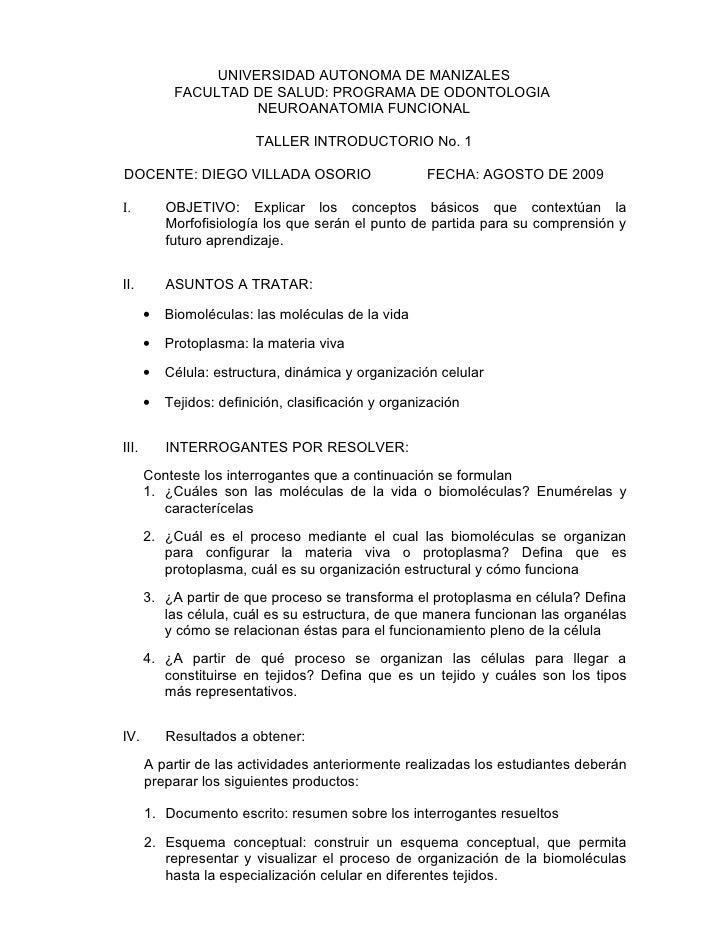 UNIVERSIDAD AUTONOMA DE MANIZALES             FACULTAD DE SALUD: PROGRAMA DE ODONTOLOGIA                       NEUROANATOM...