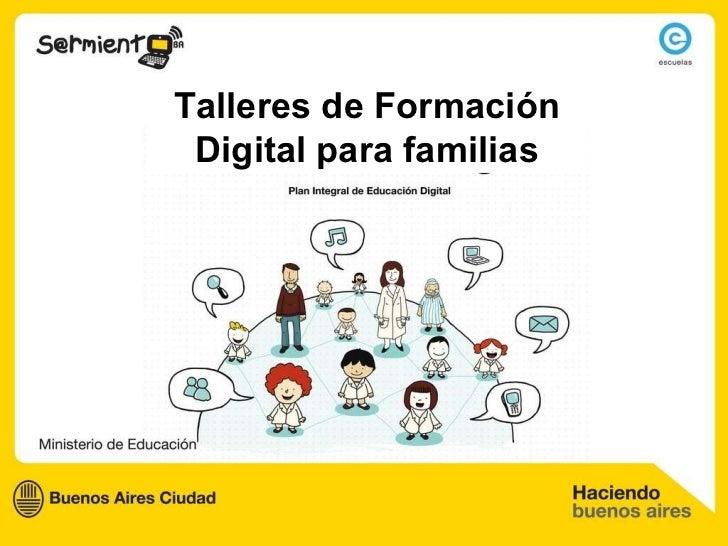 Talleres de Formación Digital para familias