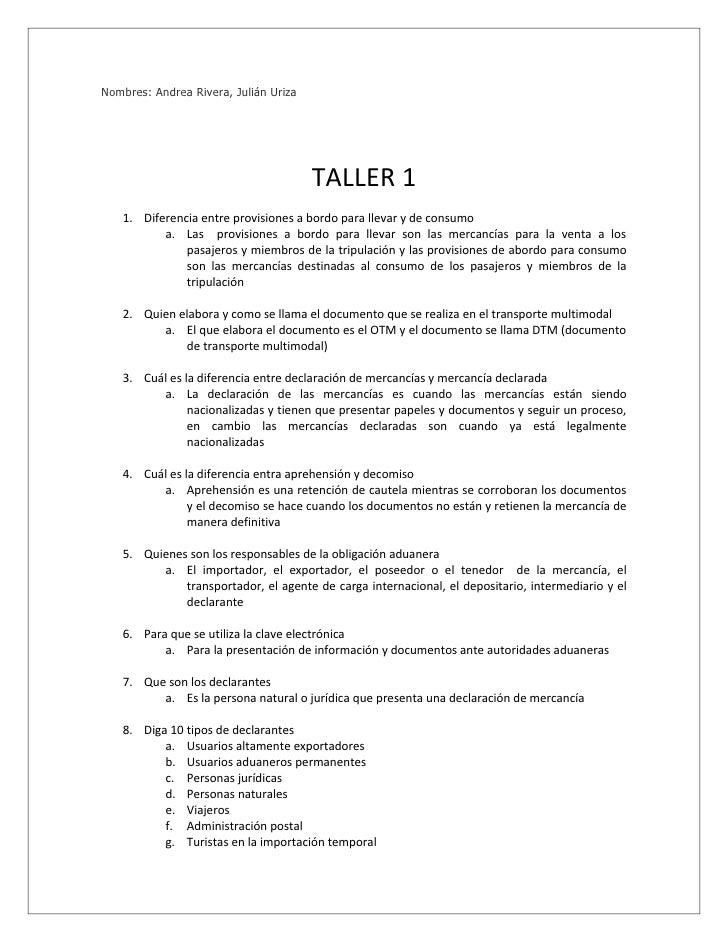 Nombres: Andrea Rivera, Julián Uriza                                            TALLER 1    1. Diferencia entre provisione...