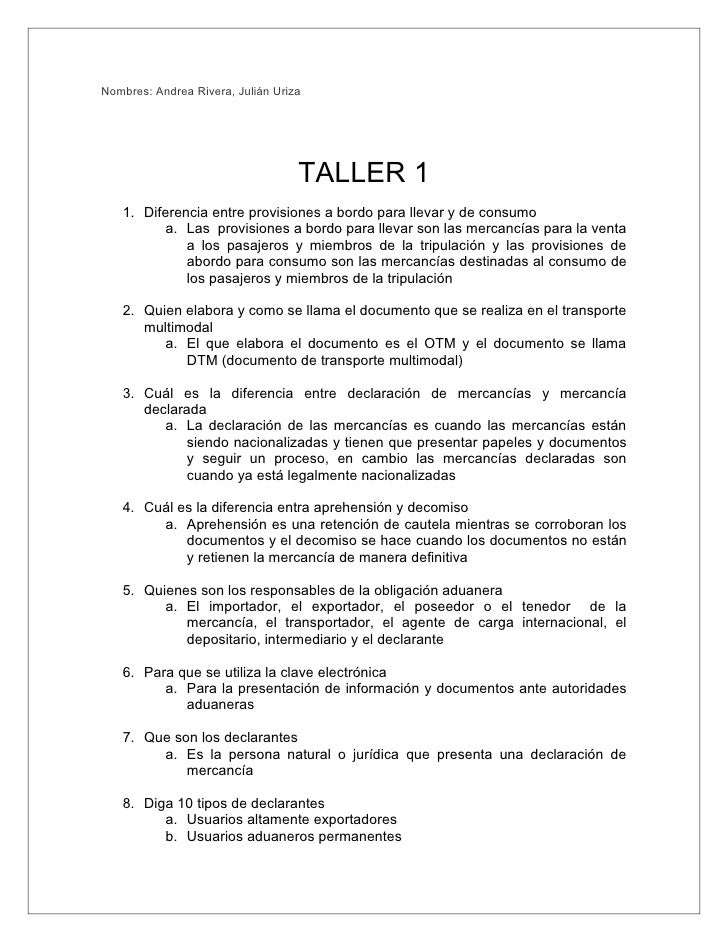 Nombres: Andrea Rivera, Julián Uriza                                        TALLER 1    1. Diferencia entre provisiones a ...