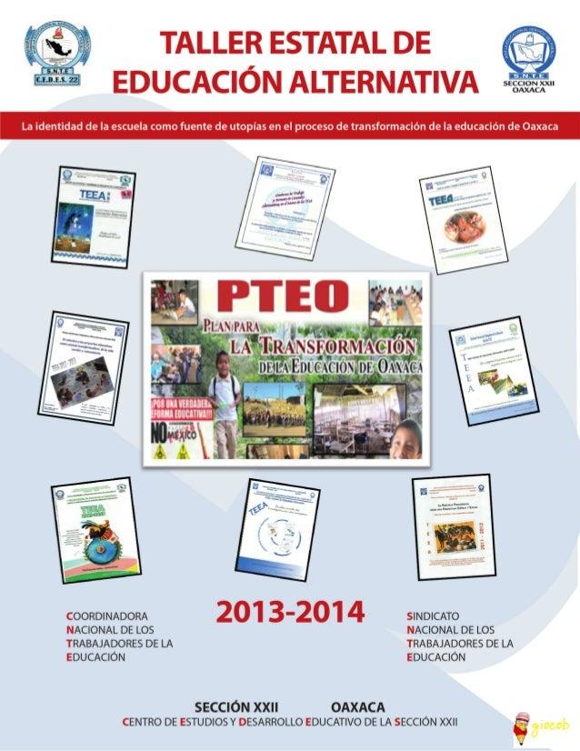 TALLER ESTATAL DE EDUCACIÓN ALTERNATIVA 1
