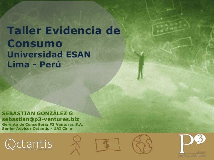 Taller evidencia de consumo Universidad ESAN Peru