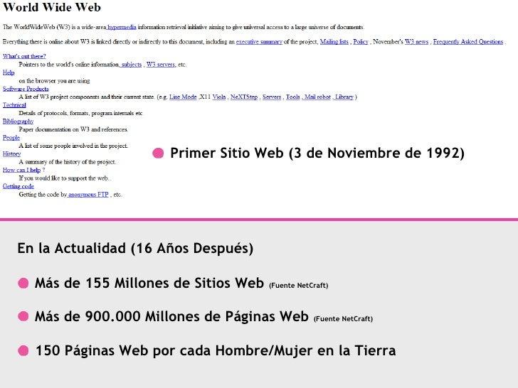 Más de 155 Millones de Sitios Web  (Fuente NetCraft) Más de 900.000 Millones de Páginas Web  (Fuente NetCraft) 150 Páginas...